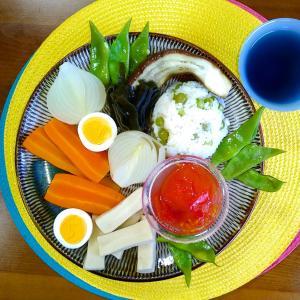 【Miho's和ごはん】グリンピースの炊き込みご飯と野菜の煮物もり