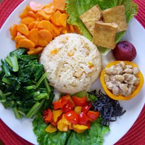 【Miho's和ごはん】炊き込みご飯と野菜もり