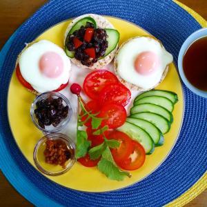 【Miho's和ごはん】目玉焼き納豆のせ・グルテンフリーオープンサンドその4