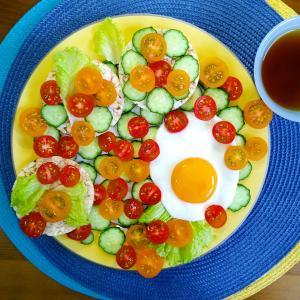 【Miho's和ごはん】ミニトマトサラダのせ・グルテンフリーオープンサンド その6