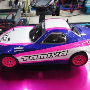 【M-08】谷田部で練習走行&タイヤの皮むき、Cハブ接着の効果と検証