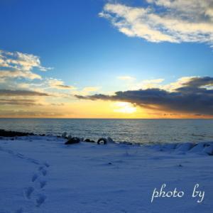 太平洋の夕景