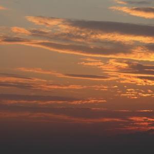 日の入り後の積雲