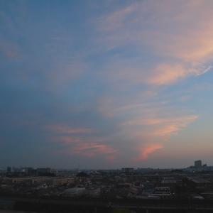 夕映えの空