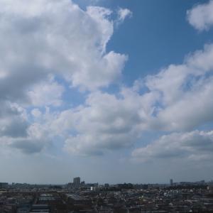 典型的な積雲の並雲
