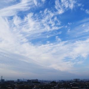 鈎状雲(巻雲)