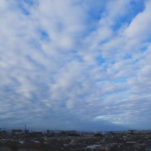 放射状雲(層積雲)