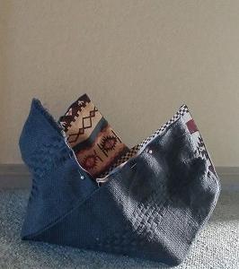 長ーい一枚布で作るバッグ