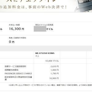来年のレバラン、ビジネスクラス 16,300円(ANA)でとれた