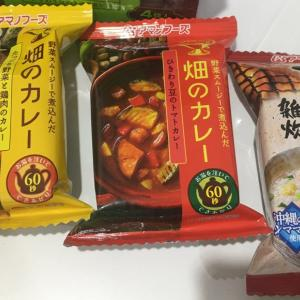 日本からの自分用のインドネシアへの土産:宇宙食みたいなカレー、雑炊。