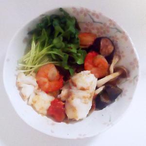 トマト鍋を作った