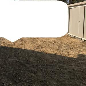 裏庭の整地・・・土壌改良
