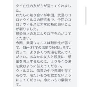 <新型肺炎・武漢肺炎>デマにご注意