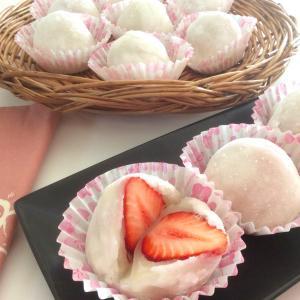 レンジで簡単、売ってるのより美味しい!!家で作る苺大福
