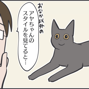 2匹の黒猫のスタイルが違いすぎる