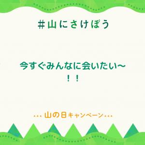今日は山の日何だって~( ノ^ω^)ノ