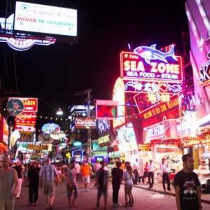タイ人の観光地 ウォーキングストリート