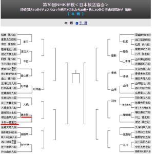 王位戦後、木村九段と3棋戦