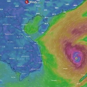 台風の強風域の消滅過程