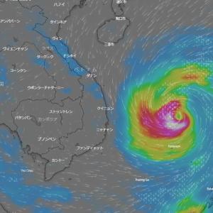 台風の雨域の変化