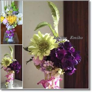 仏壇のお花のリメイク♪