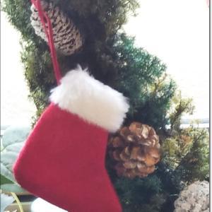 サンタさんの靴下のbigなヒロム杉のクリスマスリース♪