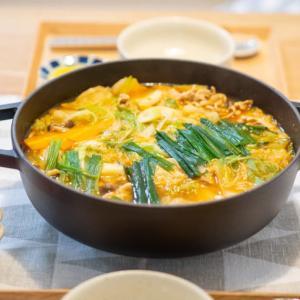 鍋は総じて低脂質♪マイルドキムチ鍋とホットプレートで焼肉もどき