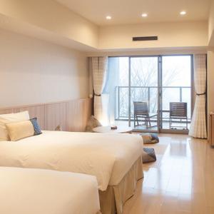 箱根 芦ノ湖 はなをり 温泉宿レポ:湖畔側和洋室ツイン客室篇