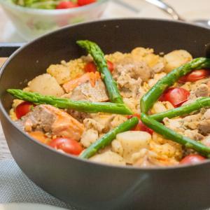 [低脂質レシピ]サフランdeパエリア:ご飯もおかずも同時に出来る♪