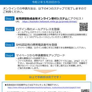 【助成金も電子申請】