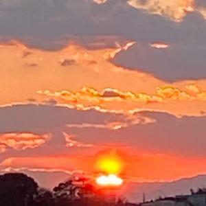 2021.1.17の夕陽