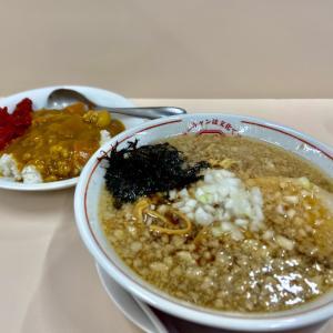 ☆背脂煮干しラーメンとミニカレー☆我武者羅 蒲田店