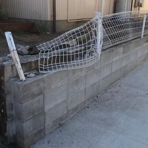 フェンスの修理