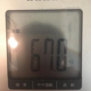 体重67kg