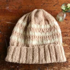iichiに「ゆったりニット帽子(アルパカ&ウール)」他1点をupしました。