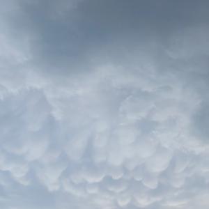 ウロコ雲!?ぶつぶつ雲