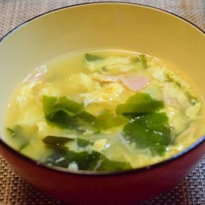 急いで汁ものつくり多い時のレシピ。卵と、乾燥わかめを常備しておきましょう。