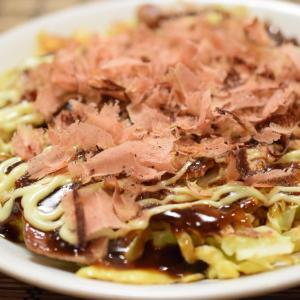 西伊豆の削りたて鰹節たっぷりの、米粉でつくるお好み焼き