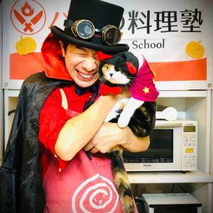 ハッピーハロウィン!パパの料理塾オンライン@ビストロパパ・オンラインクッキングスタジオwith三毛猫マリー