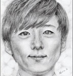 高橋一生 似顔絵 鉛筆画 肖像画