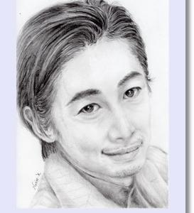ディーン・フジオカ 似顔絵 鉛筆画  デッサン