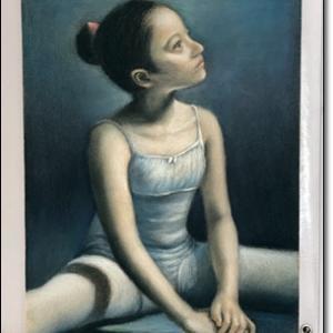 少女のバレリーナ 模写 パステル画 人物画