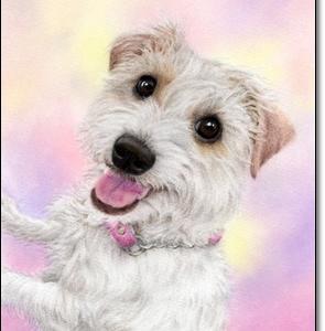ジャックラッセル パステルで描くペット肖像画・ペット似顔絵