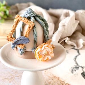 【卒業制作】延べ100人をご指導のマシュマロフォンダントレッスン♡アンティークな鳥籠ケーキ