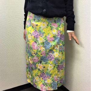 生地持ち込み!花柄コットンの巻きスカートをオーダー♪