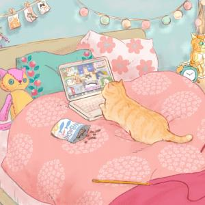 オンライン猫集会イラストその2