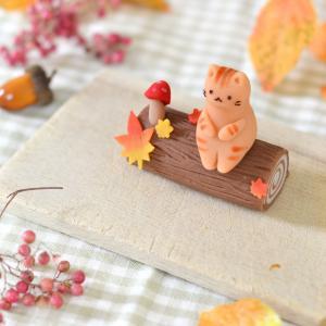小さくってかわいい秋見つけた♪新作猫練り切り