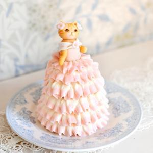 猫の日に 猫ドレスケーキ