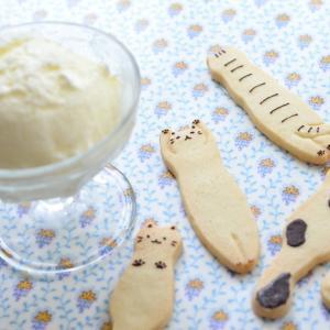 猫クッキーのメイキング