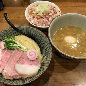 麺屋NOROMA@奈良市  特選魚介鶏つけ麺(限定) チャーシュー丼